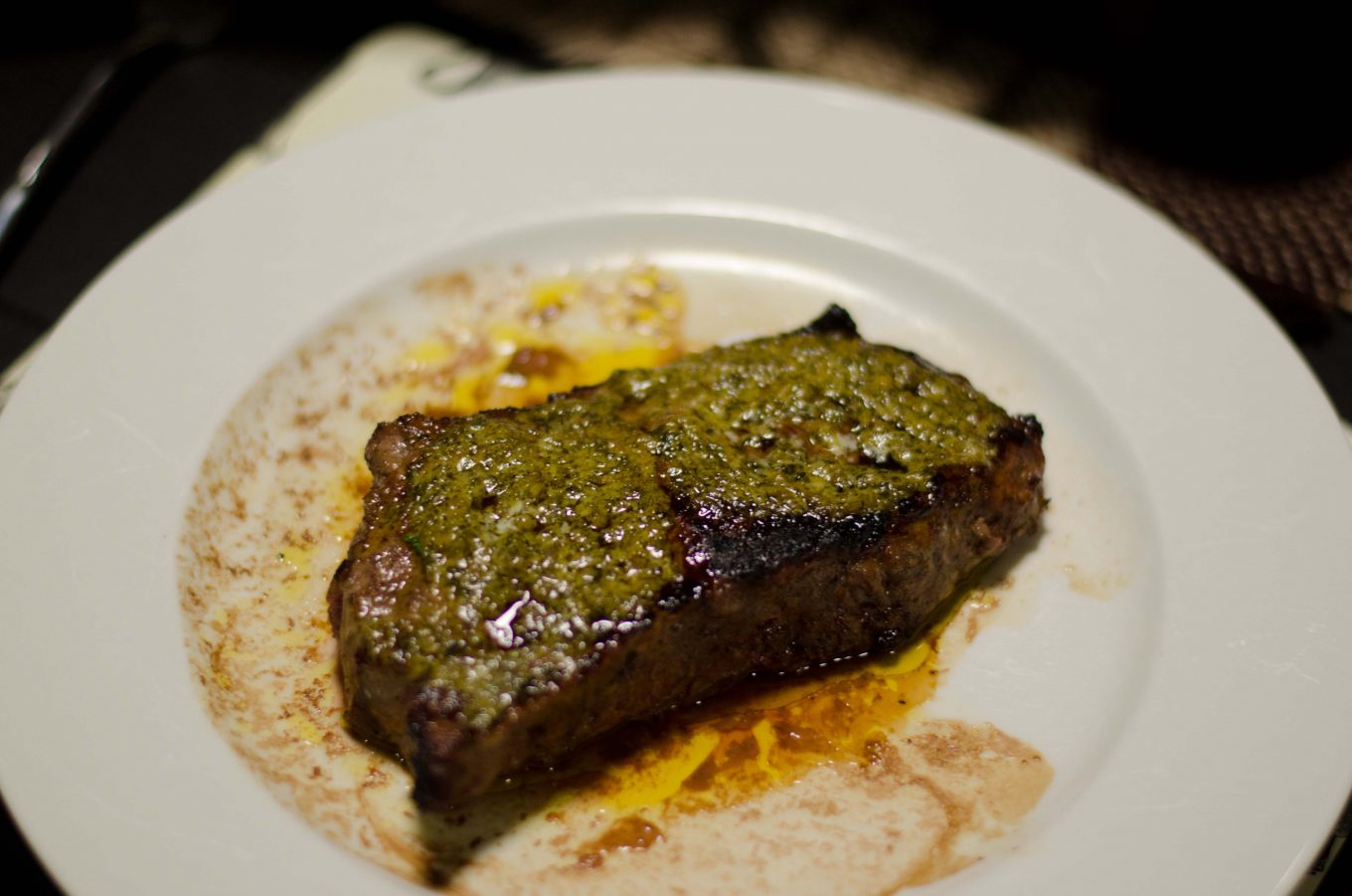 Grilled Steak with Cafe de Paris Butter