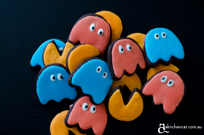 Chocolate Sugar PacMan Cookies
