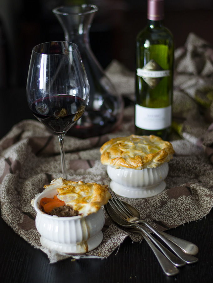 Beef, Onion and Red Wine Pie