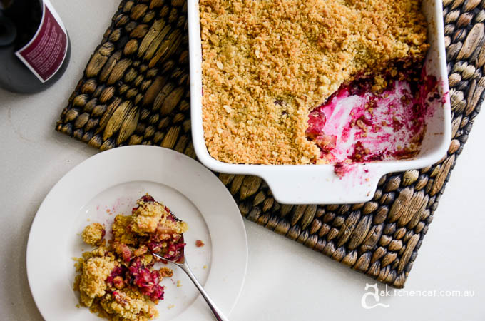 Apple, Berry and Rhubarb Crumble