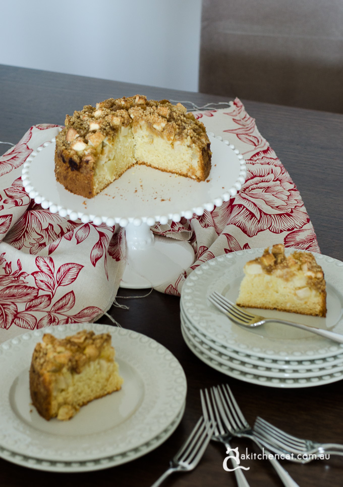Apple Crumble Cake A Kitchen Cat