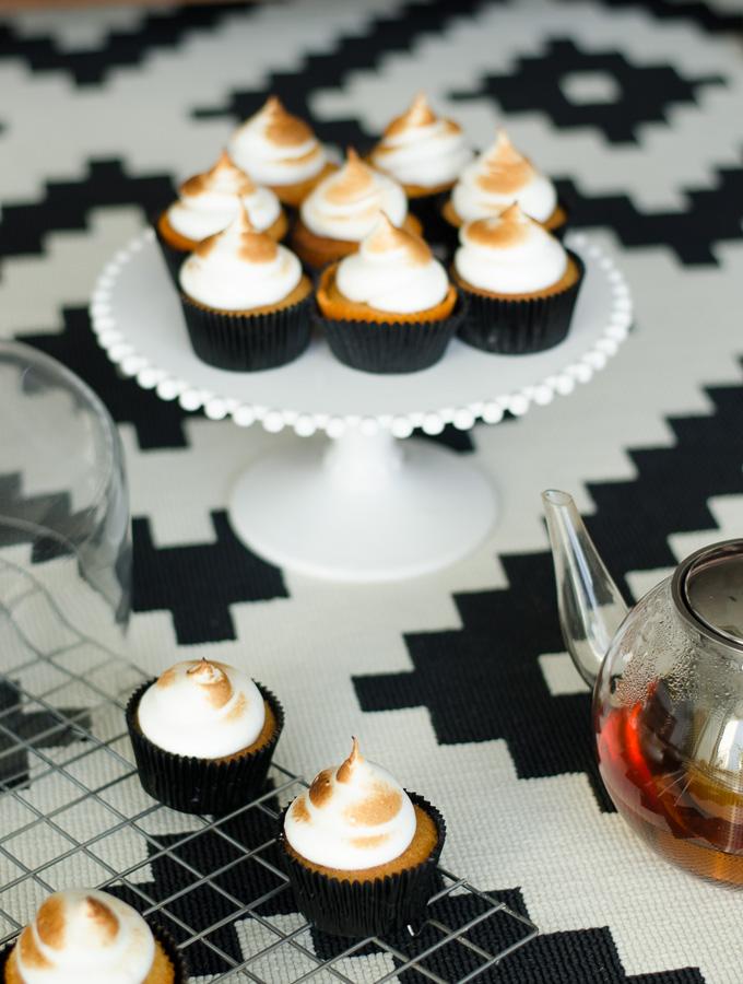 Vanilla Lemon Cupcakes with Toasted Meringue