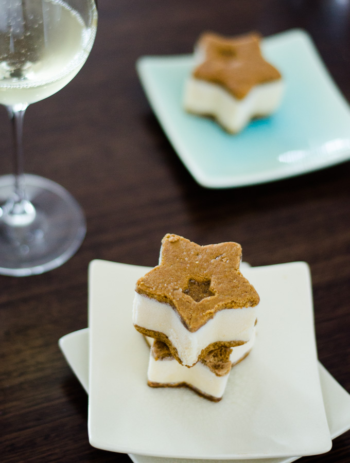 Spiced Ginger and Honey Ice Cream Sandwiches