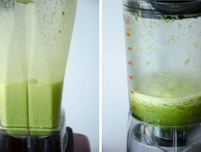 Optimum vs Breville blender - green smoothie