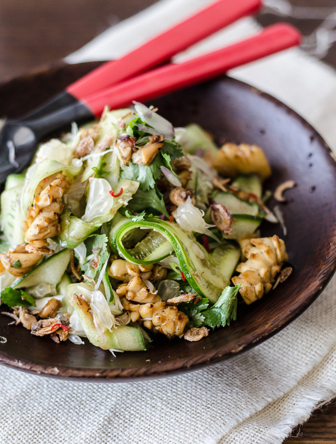 Grilled Calamari and Pomelo Salad